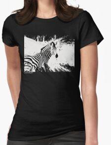 zebra love Womens Fitted T-Shirt