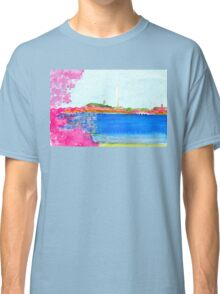 Washington Monument with Cherry Blossoms Classic T-Shirt