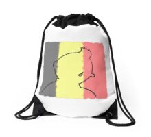Cry for Brussels Drawstring Bag