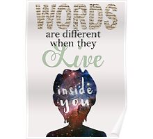 """Aristotle and Dante - """"Words are Different..."""" Poster"""
