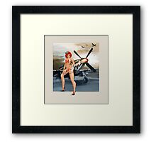 Vintage WW2 Style Pin Up Art - Mustang Sally Framed Print