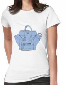 Blue bag Womens Fitted T-Shirt