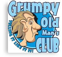 Grumpy Old Man's Club Canvas Print