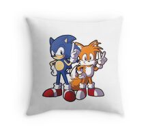 Classic Sonic and Tails Throw Pillow
