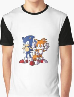 Classic Sonic and Tails Graphic T-Shirt