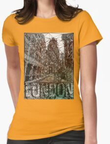 London sepia Womens Fitted T-Shirt