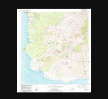 USGS TOPO Map Hawaii HI Makena 349565 1983 24000 Unisex T-Shirt