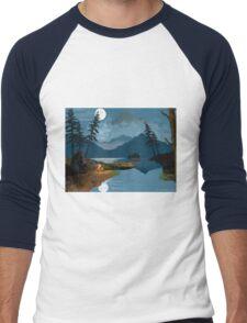Cowboy in the Rocky Mountains Men's Baseball ¾ T-Shirt