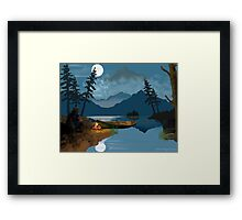 Cowboy in the Rocky Mountains Framed Print