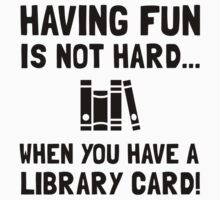 Library Card Fun Baby Tee