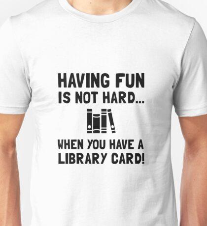 Library Card Fun Unisex T-Shirt