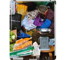 market scene in Hong Kong lady selling fruit and vegetables iPad Case/Skin