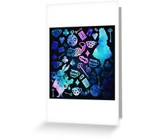 Alice - Black Galaxy Greeting Card