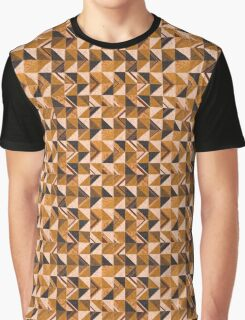 Brown Tiles Graphic T-Shirt