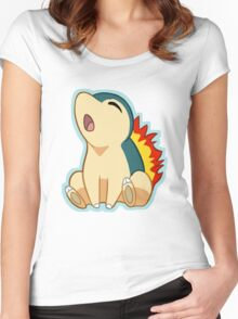 Cyndaquil Women's Fitted Scoop T-Shirt