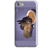 Rabbits Eating Spent Grains iPhone Case/Skin