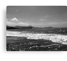 Irish Coast in Black and White Canvas Print