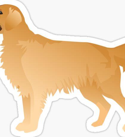 Golden Retriever Basic Breed Silhouette Sticker