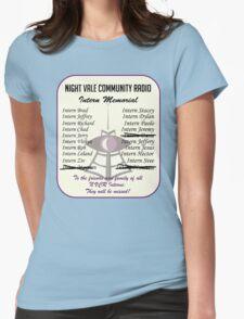 Night Vale Community Radio Intern Memorial Womens Fitted T-Shirt