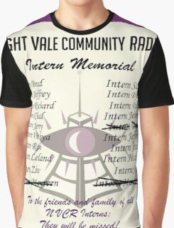 Night Vale Community Radio Intern Memorial Graphic T-Shirt