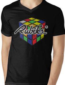 Rubik's Mens V-Neck T-Shirt