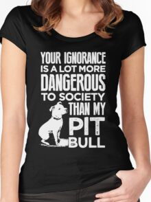 My Pit Bull Women's Fitted Scoop T-Shirt