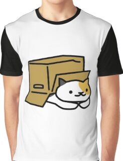 Cat in a Box Graphic T-Shirt