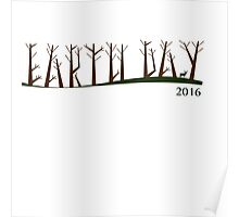 Earth Day 2016 Tree Font Poster