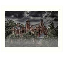 Halloween Haunted Mansion Fog Art Print