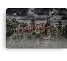 Halloween Haunted Mansion Fog Canvas Print