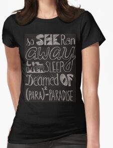 Coldplay Paradise Womens Fitted T-Shirt