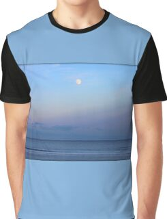 Full Moon Over The Atlantic Ocean In Rye, New Hampshire Graphic T-Shirt