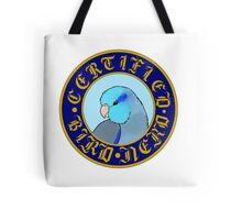 Certified Bird Nerd (Parrotlet blue) Tote Bag