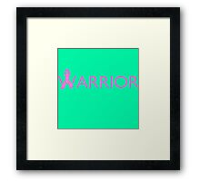 Warrior Ribbon - Pink Framed Print