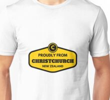 Proudly From Christchurch New Zealand Unisex T-Shirt