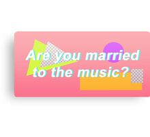 """SHINee """"Are you married to the music?"""" Design Canvas Print"""