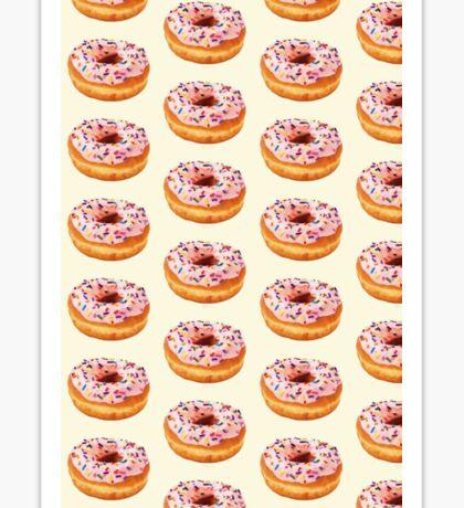 Pink Sprinkled Donut  Sticker