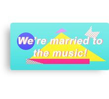"""SHINee """"We're married to the music!"""" Design Canvas Print"""