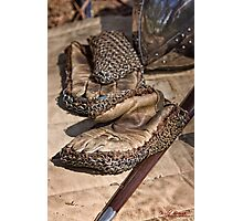 An Ancient Knight's Glove and Sword Photographic Print