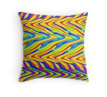 Abstract multi color zig zag 400C Throw Pillow
