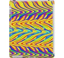 Abstract multi color zig zag 400C iPad Case/Skin