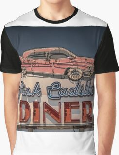 Pink Cadillac Diner Graphic T-Shirt