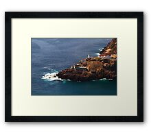 Canadian National Historical Site Fort Amherst, WWII bunkers Framed Print