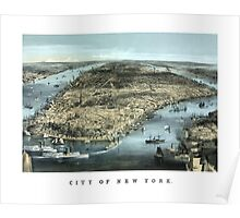 New York City -- Circa 1850 Poster