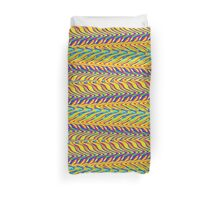 Abstract multi color zig zag 400C Duvet Cover
