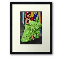 Little Latin American Dancer Framed Print