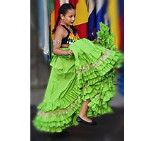 Little Latin American Dancer Photographic Print