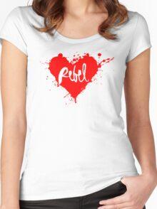 Rebel HEART Women's Fitted Scoop T-Shirt