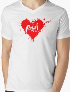 Rebel HEART Mens V-Neck T-Shirt