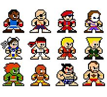 8-Bit Street Fighter 2 Photographic Print